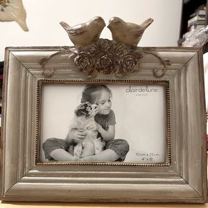 "2/$30 pictures frame 4""x6"" love birds clairdelune"